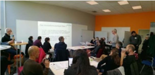 photo d'une réunion en présentiel du LéA ELiAN