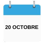 calendrier à la date du 20 octobre